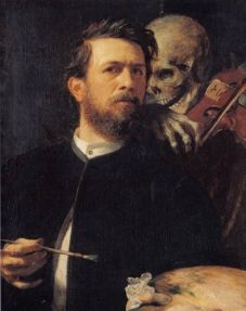 Self-Portrait with Death Playing the Fiddle – Arnold Böcklin (1872)