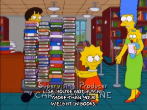 simpsons Lisa buy books