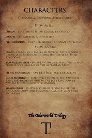 glossary & pronunciation guide_oneiroi_characters ailill & aztlan