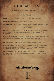 glossary & pronunciation guide_oneiroi_characters ailill & aztlan