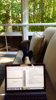 Outdoor writing space